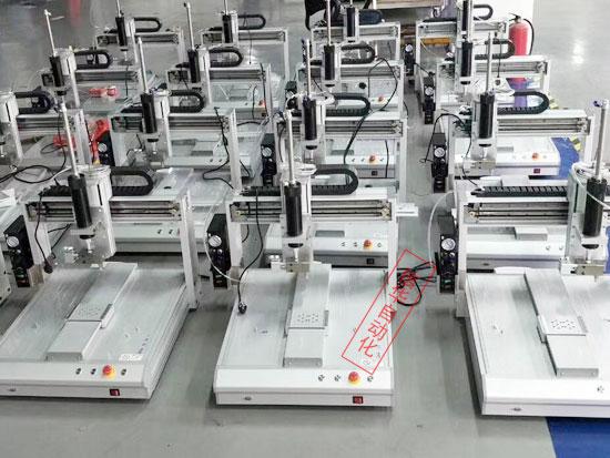 信华300软包装胶水点胶机批量生产